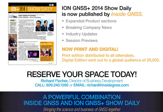 Institute of Navigation Partners with Inside GNSS on ION GNSS+ Show Daily