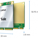 Telit's LM960 Described as  First 1Gbps-class LTE Mini PCIe Card