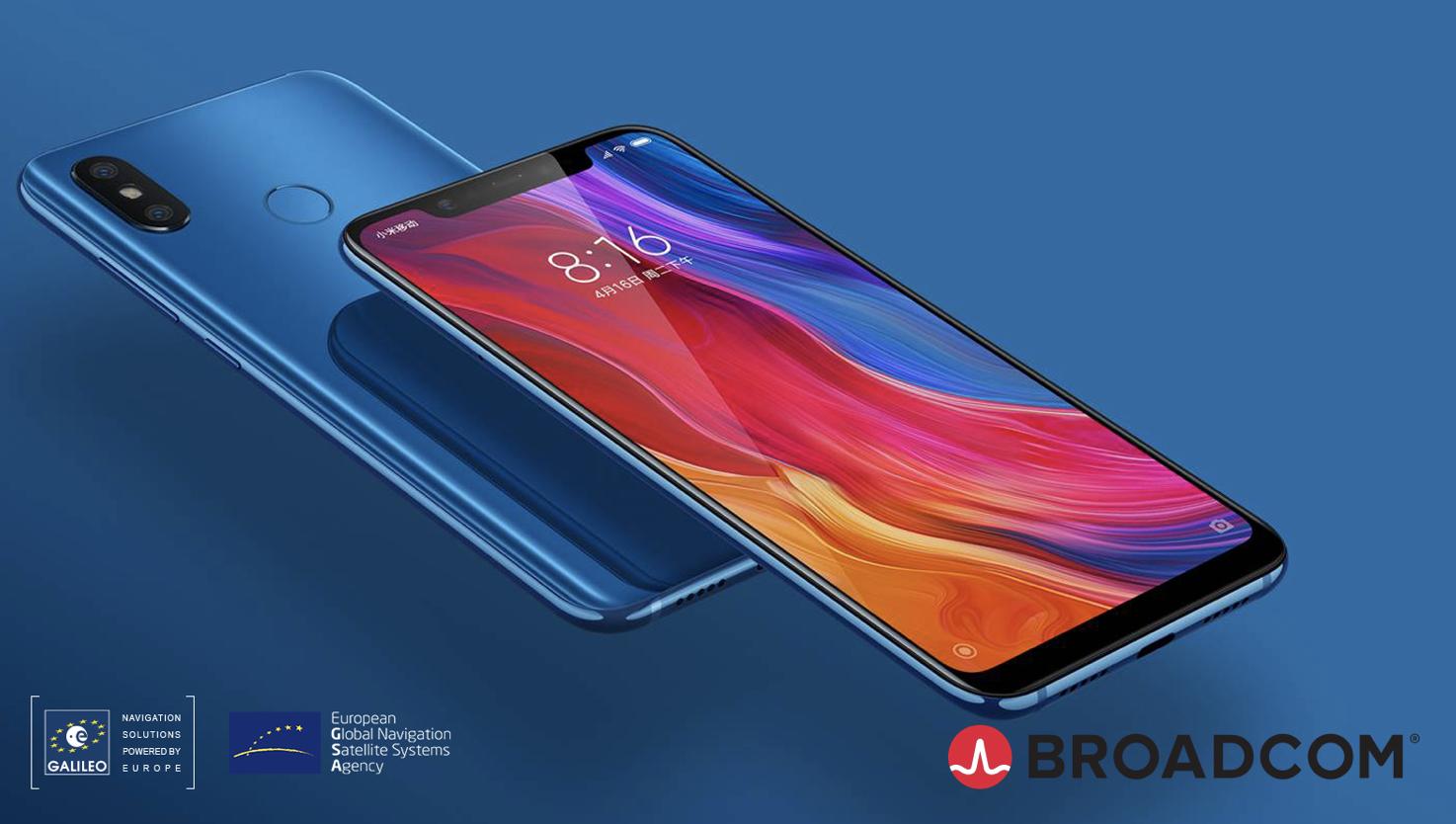 Broadcom dual frequency GNSS smartphone