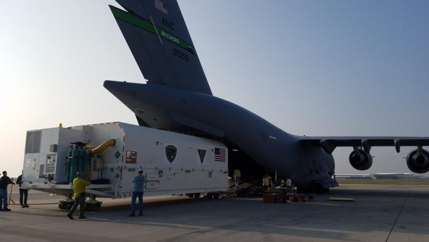 """GPS III Space Vehicle 01 """"Vespucci"""" Arrives in Florida in Preparation for December Launch"""
