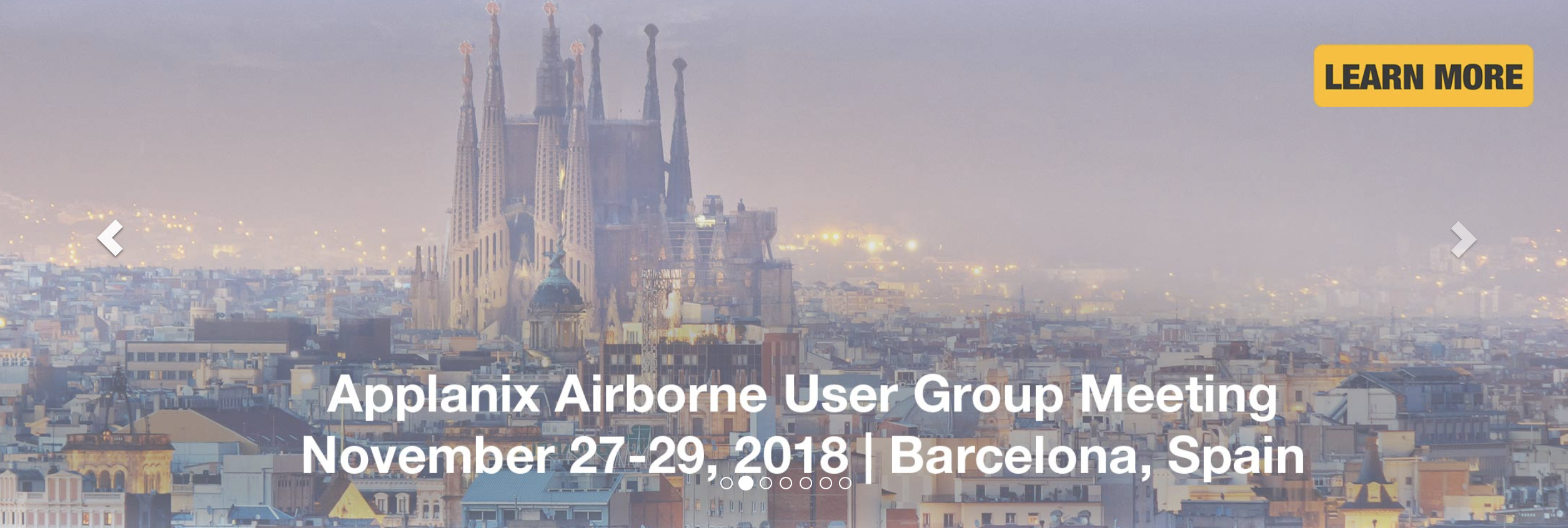 Barcelona the Site for Applanix Airborne User Group Event