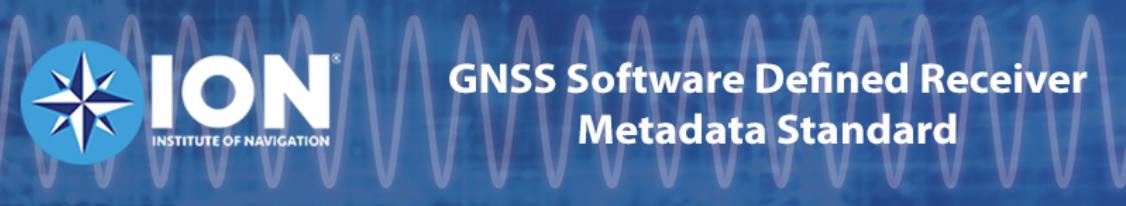 ION's GNSS SDR Metadata Standard Working Group Seeking Final Public Comment
