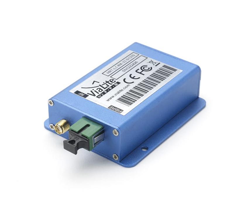 Power Supply Not Needed for ViaLite's RF Over Fiber Module