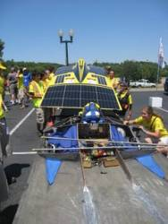 Sunny and Hot! A perfect month for a solar car race