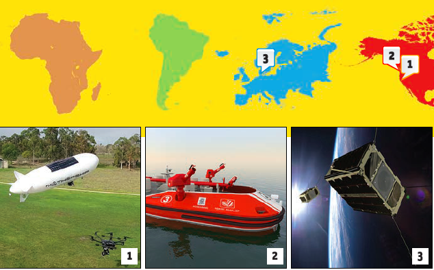 GNSS Hotspots - Pipeline Inspecting Blimp, Remote Control Fireboats, Cereal-Box Satellite and More