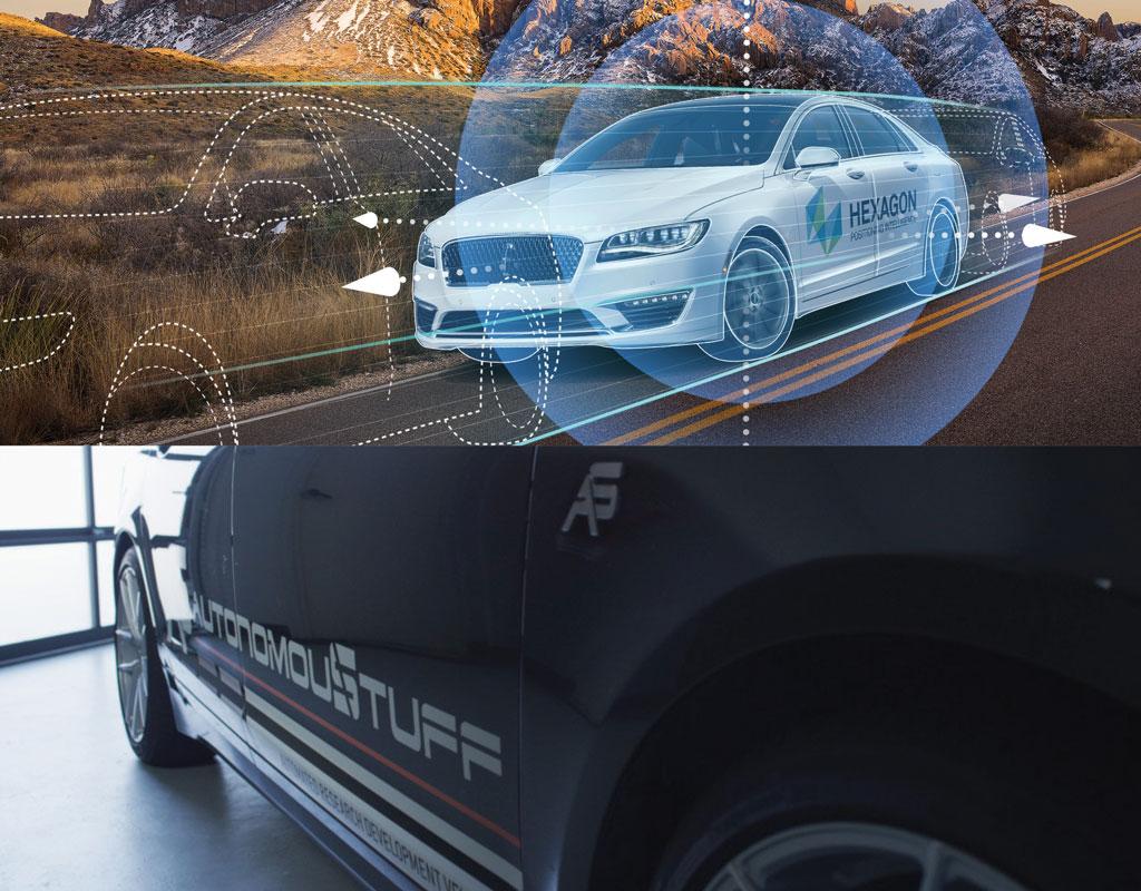 Hexagon & AutonomouStuff Car Montage
