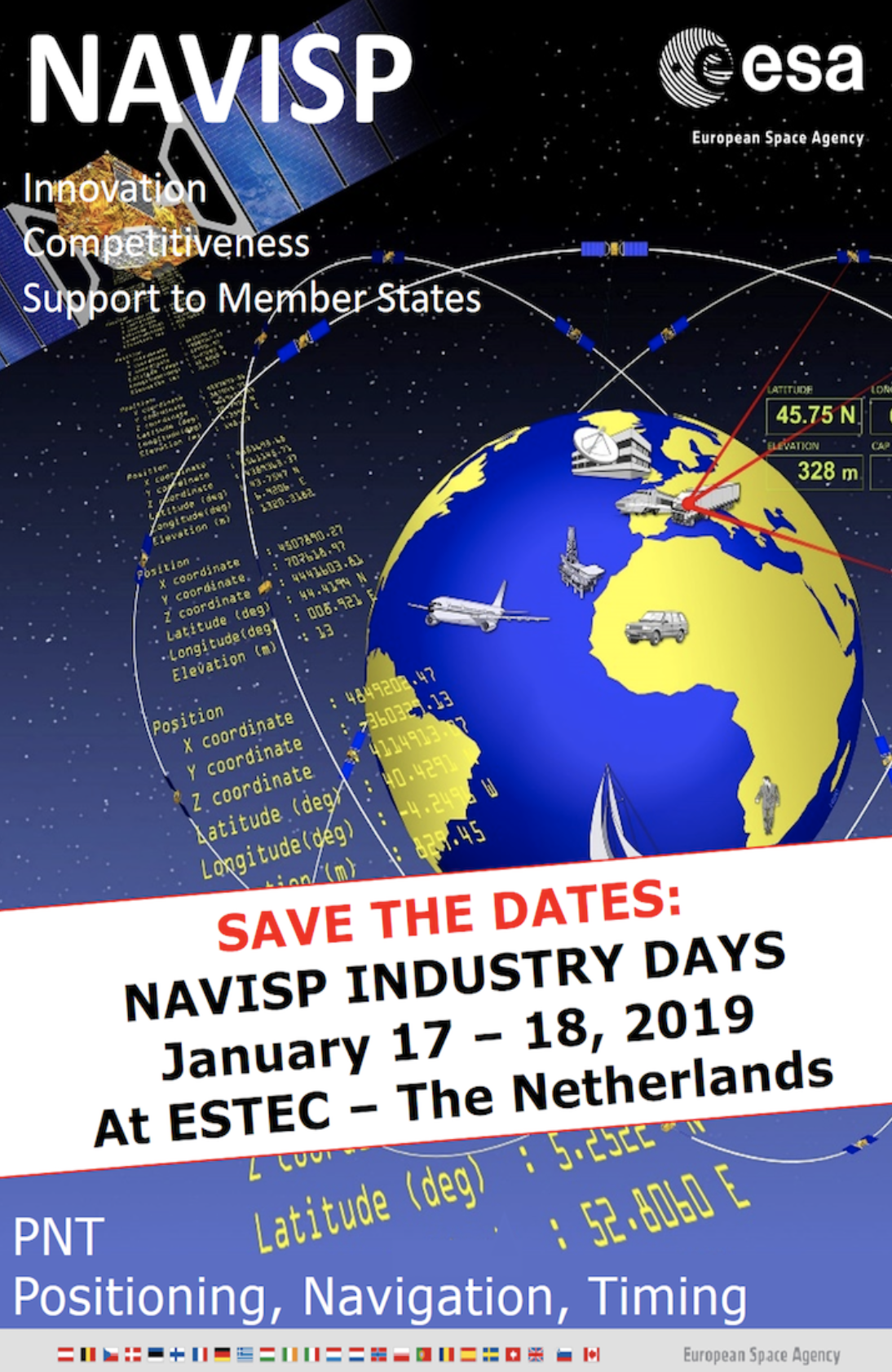 ESA'S NAVISP Industry Days to Look at Future of Navigation