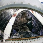First Lockheed Martin-Built GPS III Satellite Encapsulated for Upcoming Launch