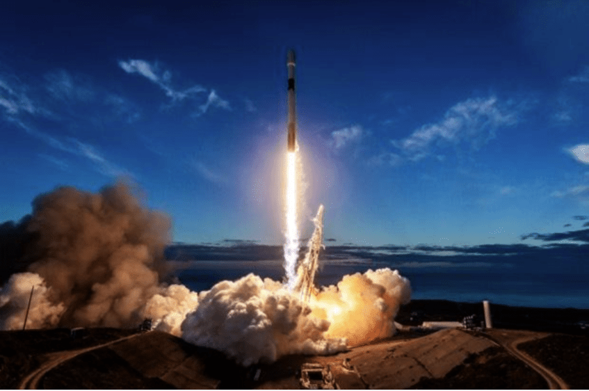 SpaceX Falcon 9 rocket launch Courtesy of Space and Missile Systems Center