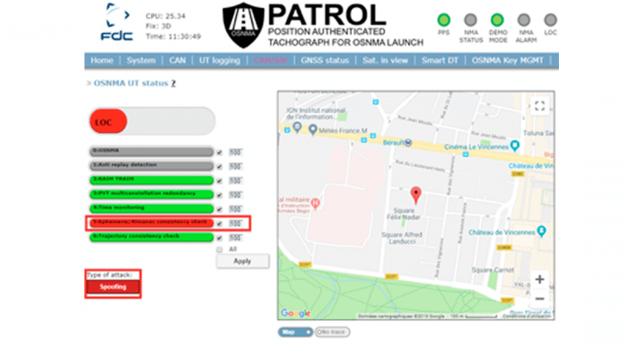 PATROL user interface. Courtesy GSA.