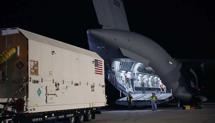 GPS III satellite ships to launching site. Lockheed Martin photo